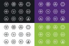 Icone di tecnologia di vettore UI del profilo messe Immagine Stock Libera da Diritti