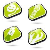 Icone di tecnologia e di affari Immagine Stock Libera da Diritti