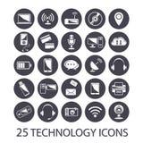 Icone di tecnologia messe Fotografia Stock