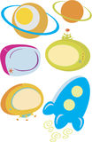 Icone di tecnologia spaziale illustrazione vettoriale