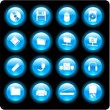 Icone di tecnologie informatiche Immagini Stock Libere da Diritti