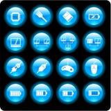 Icone di tecnologie informatiche Fotografie Stock