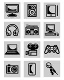 Icone di tecnologie informatiche Immagini Stock