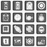Icone di tempo Fotografia Stock Libera da Diritti