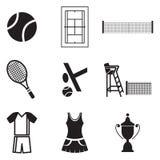 Icone di tennis Immagini Stock Libere da Diritti