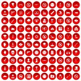 100 icone di tensione messe rosse royalty illustrazione gratis