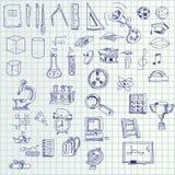 Icone di tiraggio della mano illustrazione vettoriale