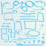 Icone di tiraggio della mano illustrazione di stock