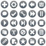 Icone di titanio 1 Immagine Stock