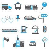 Icone di traffico, icone della metropoli Immagine Stock Libera da Diritti