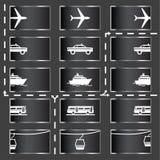 Icone di trasporto Fotografia Stock