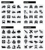 Icone di trasporto Fotografia Stock Libera da Diritti