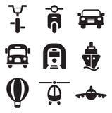 Icone di trasporto Fotografie Stock Libere da Diritti