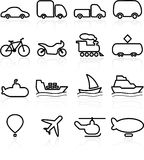 Icone di trasporto Immagini Stock Libere da Diritti