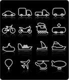 Icone di trasporto Immagine Stock Libera da Diritti