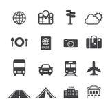 Icone di trasporto & di viaggio Fotografia Stock Libera da Diritti