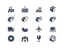 Icone di trasporto e logistiche Serie di Lyra Fotografie Stock Libere da Diritti
