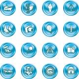 Icone di turismo e di corsa. royalty illustrazione gratis