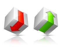 Icone di upload e di trasferimento dal sistema centrale verso i satelliti Immagine Stock Libera da Diritti