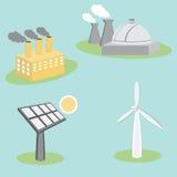 Icone di Utility Energy Company Immagini Stock