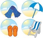 Icone di vacanza Fotografia Stock