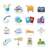 Icone di vacanza e di viaggio royalty illustrazione gratis