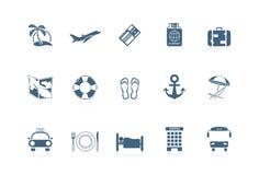 Icone di vacanza   serie piccola Fotografie Stock