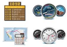 Icone di vacanze e di corsa. Parte 3 Immagine Stock Libera da Diritti