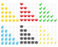 Icone di valutazione Immagini Stock