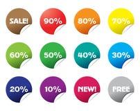 icone di vendita Immagini Stock