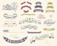 Icone di vendita dell'annata impostate illustrazione di stock