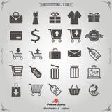 Icone di vendita di E e di vendita della filiale messe Immagine Stock Libera da Diritti