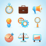 Icone di vendita di Internet di SEO Immagine Stock