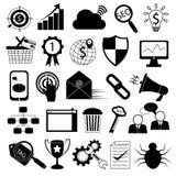 Icone di vendita di Internet: SEO Tools Fotografie Stock