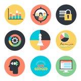 Icone di vendita di Internet di ottimizzazione del motore di ricerca Fotografia Stock Libera da Diritti