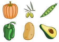 Icone di verdure Fotografie Stock Libere da Diritti