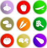Icone di verdure del segno Fotografia Stock