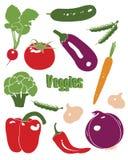 Icone di verdure impostate Immagini Stock