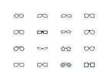 Icone di vetro dell'occhio Immagini Stock