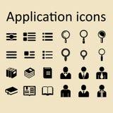 Icone di vettore di applicazione per il sito o il app Fotografia Stock