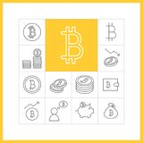 Icone di vettore di Bitcoin Royalty Illustrazione gratis