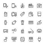 Icone 6 di vettore colorate elettronica immagini stock libere da diritti