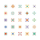 Icone 4 di vettore colorate fiocchi di neve Fotografia Stock