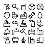 Icone 8 di vettore colorate industriale Fotografia Stock