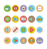 Icone 2 di vettore colorate musica Fotografia Stock Libera da Diritti
