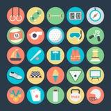 Icone 2 di vettore colorate sport Fotografie Stock