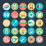Icone 4 di vettore colorate sport Fotografia Stock