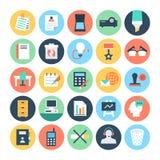 Icone 4 di vettore colorate ufficio illustrazione vettoriale