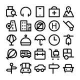 Icone 6 di vettore colorate viaggio Immagine Stock Libera da Diritti