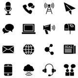 Icone di vettore di comunicazione Immagini Stock Libere da Diritti